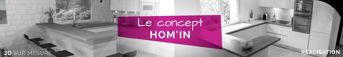 Cuisine sur mesure Hom'in : le concept