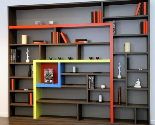 Agencement sur mesure : bibliothèque