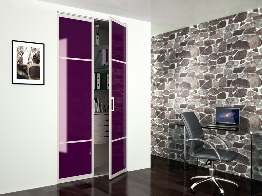 Interesting dressing sur mesure homuin portes pliantes for Porte miroir pliante